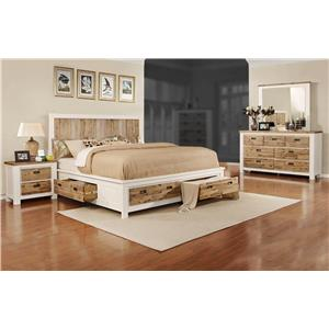 Lifestyle Tommy 4-Piece King Storage Bedroom Set