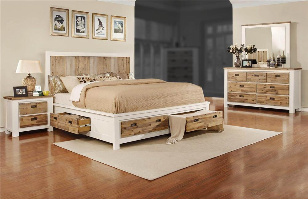 Beau Lifestyle Tommy 4 Piece Queen Storage Bedroom Set   Item Number: C3470A QBR