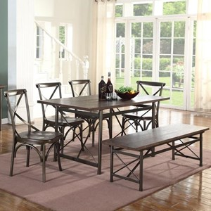 Lifestyle 1663D Table and Chair Set with Bench