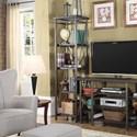 Lifestyle 1663 TV Stand Shelf Unit - Item Number: C1663E-ET3-XXXX