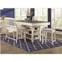 Lifestyle Crafton Counter Height Table with 4 Stools and Bench - Item Number: C1735P Table