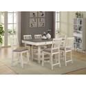 Lifestyle 1735P 7-Piece Pub Table and Chair Set - Item Number: C1735P-PTN+6xPP2