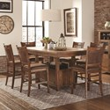 Lifestyle Jeff Pub Table with 6 Pub Stools - Item Number: C1842P-PTX+6x-PP2PUXDBX