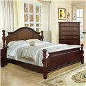 Lifestyle 2132A Traditional Queen Bed with Arched Headboard and Decorative Posts - Bed Shown May Not Represent Size Indicated
