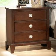 Lifestyle 2142 Bedroom Casual Cherry 3-Drawer Nightstand