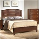 Lifestyle 2142 Bedroom Queen Casual Raised Panel Arched Bed - Bed Shown May Not Represent Size Indicated