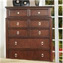 Lifestyle 2146A Casual 8-Drawer Chest with Bright Hardware