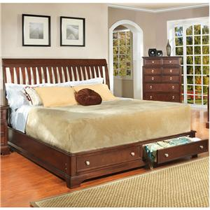 Lifestyle 2146A Casual California King Bed with Storage Drawers