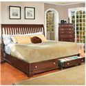 Lifestyle 2146A Casual California King Bed with Storage Drawers - Bed Shown May Not Represent Size Indicated