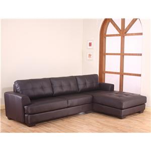 Lifestyle 2461S Contemporary Sectional with Tufted Back