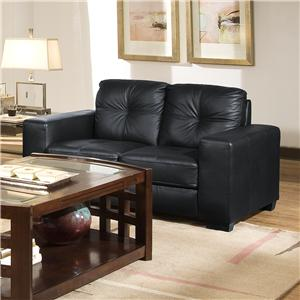 Lifestyle 2470 Contemporary Loveseat with Track Arms
