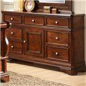 Lifestyle Big Louis 7 Drawer Dresser with Landscape Mirror - 7 Drawer Dresser