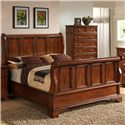 Lifestyle 3185A Queen Panel Bed with Raised Panels and Bracket Feet - Bed Shown May Not Represent Size Indicated. Chest Not Included