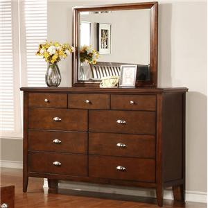 Lifestyle 4130A Dresser and Mirror Set