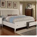 Lifestyle 4135A Queen Sleigh Storage Bed - Item Number: C4135A-QS0+QTC+QXZ+BTN