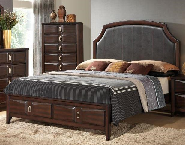 Lifestyle Avery Queen Upholstered Storage Bed - Item Number: 4157A-QSB