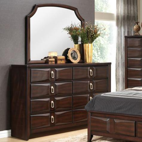 Lifestyle Charlie Dresser and Mirror Set - Item Number: C4157A-040-8DXX+C4157A-050-MBXX