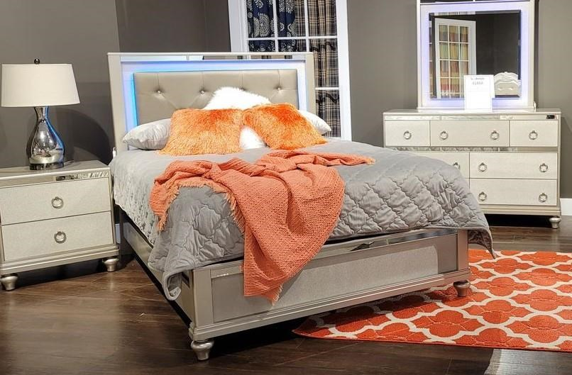 4188Y SILVER LIGHTED KING SIZE BED by Lifestyle at Furniture Fair - North Carolina