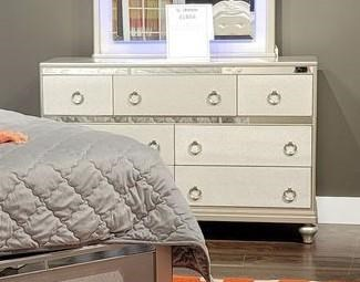 4188Y SILVER 7 DRAWER SILVER DRESSER by Lifestyle at Furniture Fair - North Carolina