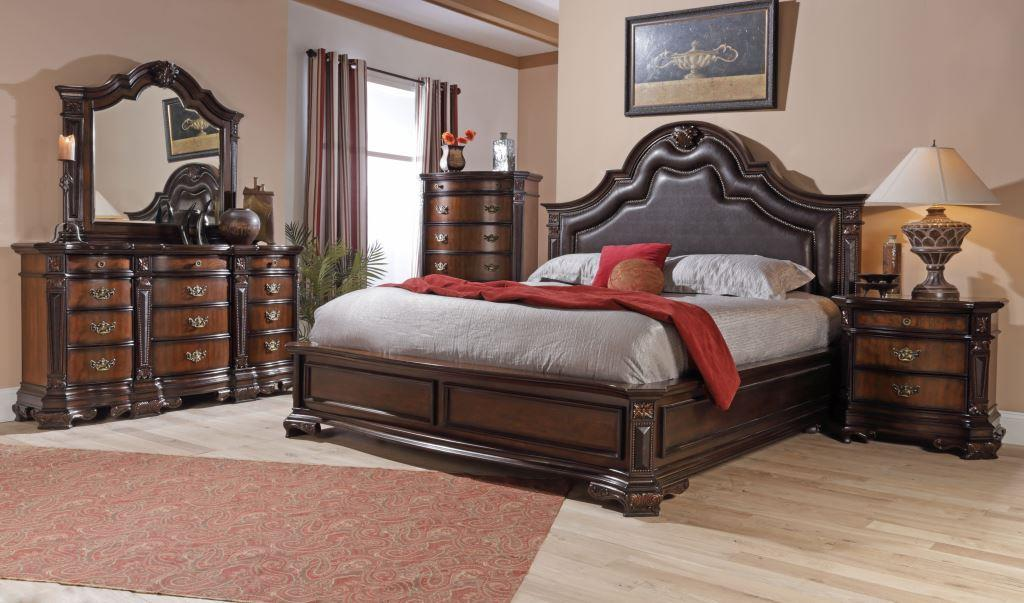 Lifestyle Jade King Faux Leather Upholstered Bed With