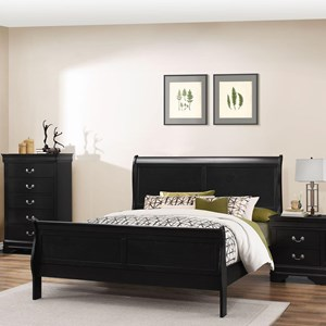 Lifestyle 4935 Full Sleigh Bed