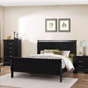 Lifestyle 4935 King Sleigh Bed - Item Number: C4935A-GSB-XXXX+BSN-XXXX