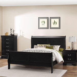 Lifestyle 4935 Queen Sleigh Bed