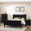 Lifestyle 4935 Twin Sleigh Bed - Item Number: C4935A-TSB-XXXX+YXN-XXXX