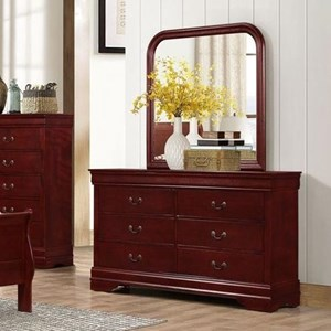 Lifestyle 4937 6 Drawer Dresser and Mirror
