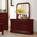 Lifestyle 4937 6 Drawer Dresser and Mirror - Item Number: C4937A-040-6DXX+050-MHXX