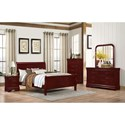 Lifestyle 4937 6 Drawer Dresser and Mirror with Wood Frame