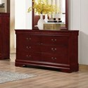 Lifestyle 4937 6 Drawer Dresser - Item Number: C4937A-040-6DXX