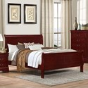 Lifestyle 4937 Queen Sleigh Bed - Item Number: C4937A-QSB-XXXX+BSN-XXXX