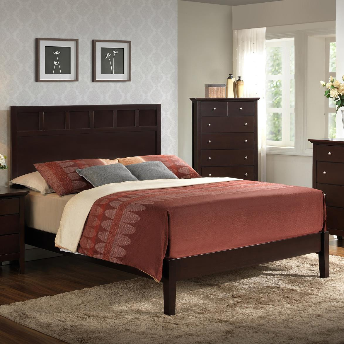 Lifestyle Harper King Panel Bed - Item Number: C5125A-G49+BXN