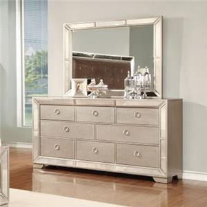 Lifestyle 5218A Dresser and Mirror Set