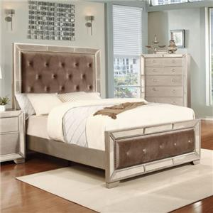 Lifestyle 5218A Queen Upholstered Bed