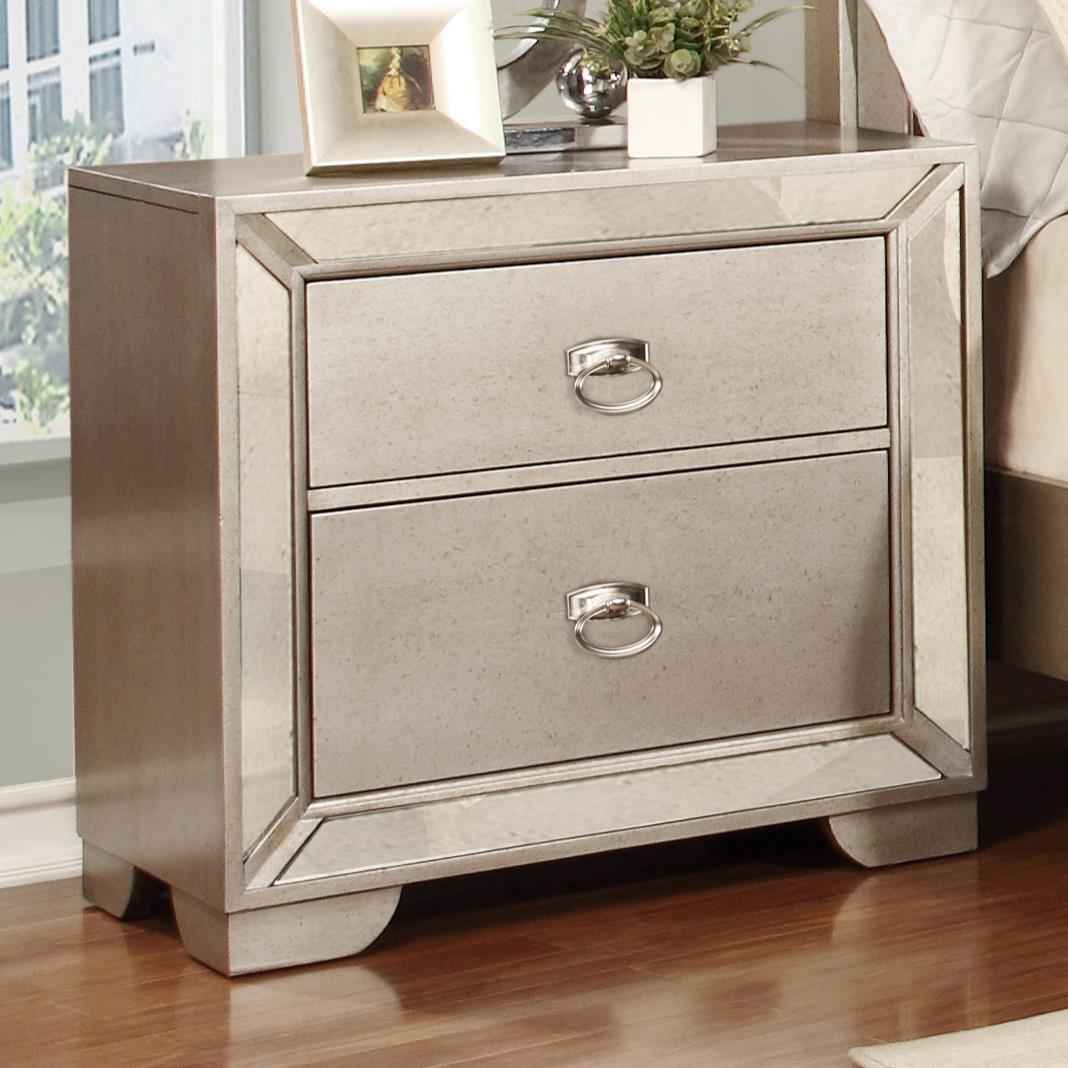Lifestyle Glitzy Nightstand with 2 Drawers - Item Number: C5219A-025-2DXX