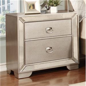 Lifestyle Glitzy Nightstand with 2 Drawers
