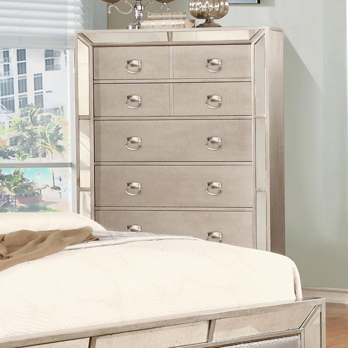 Lifestyle Glitzy Chest with 5 Drawers - Item Number: C5219A-035-5DXX