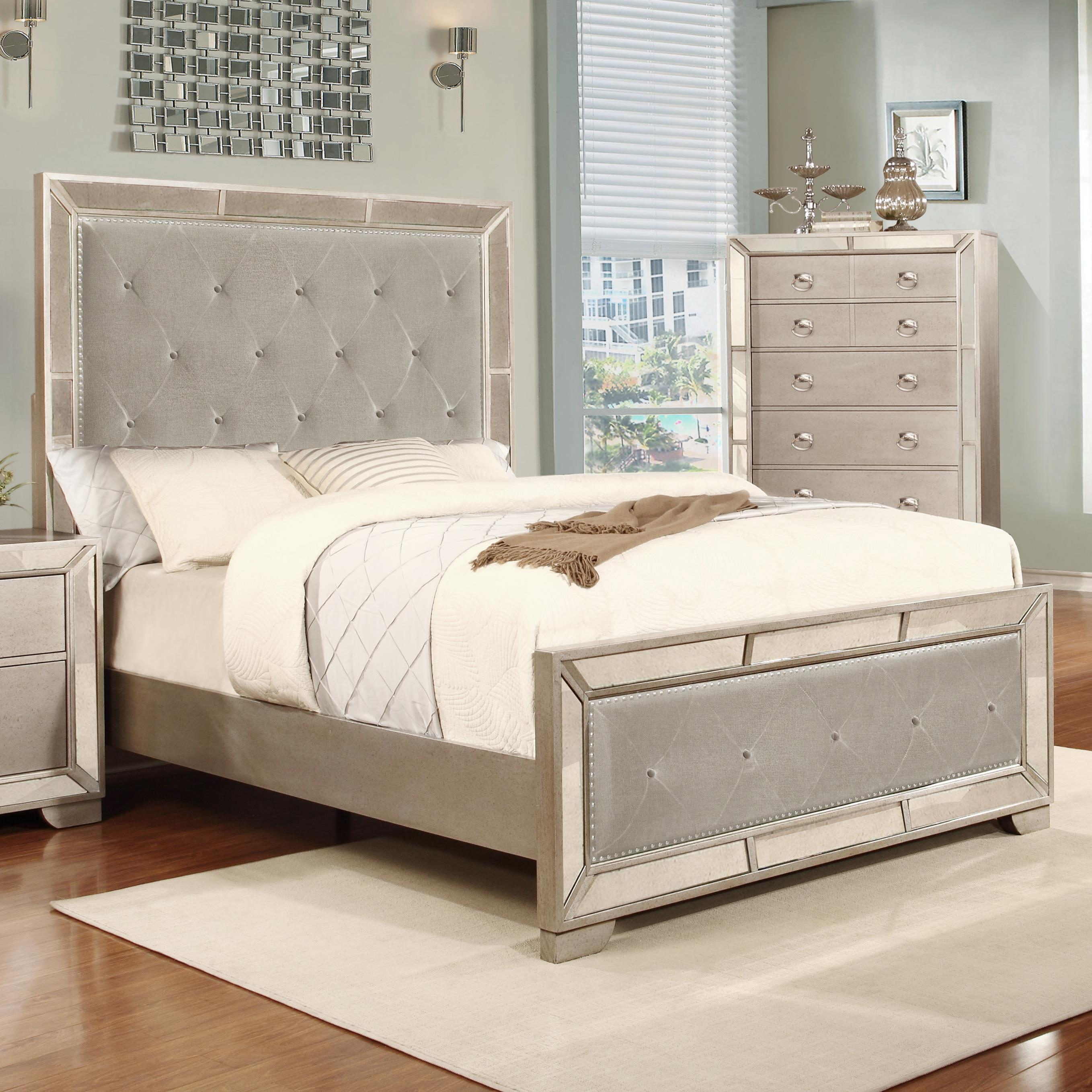 Lifestyle Glitzy King Size Panel Bed  - Item Number: C5219A-GP0+GPG+BPN-CNXX