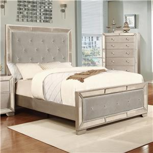 Lifestyle Glitzy Queen Size Panel Bed