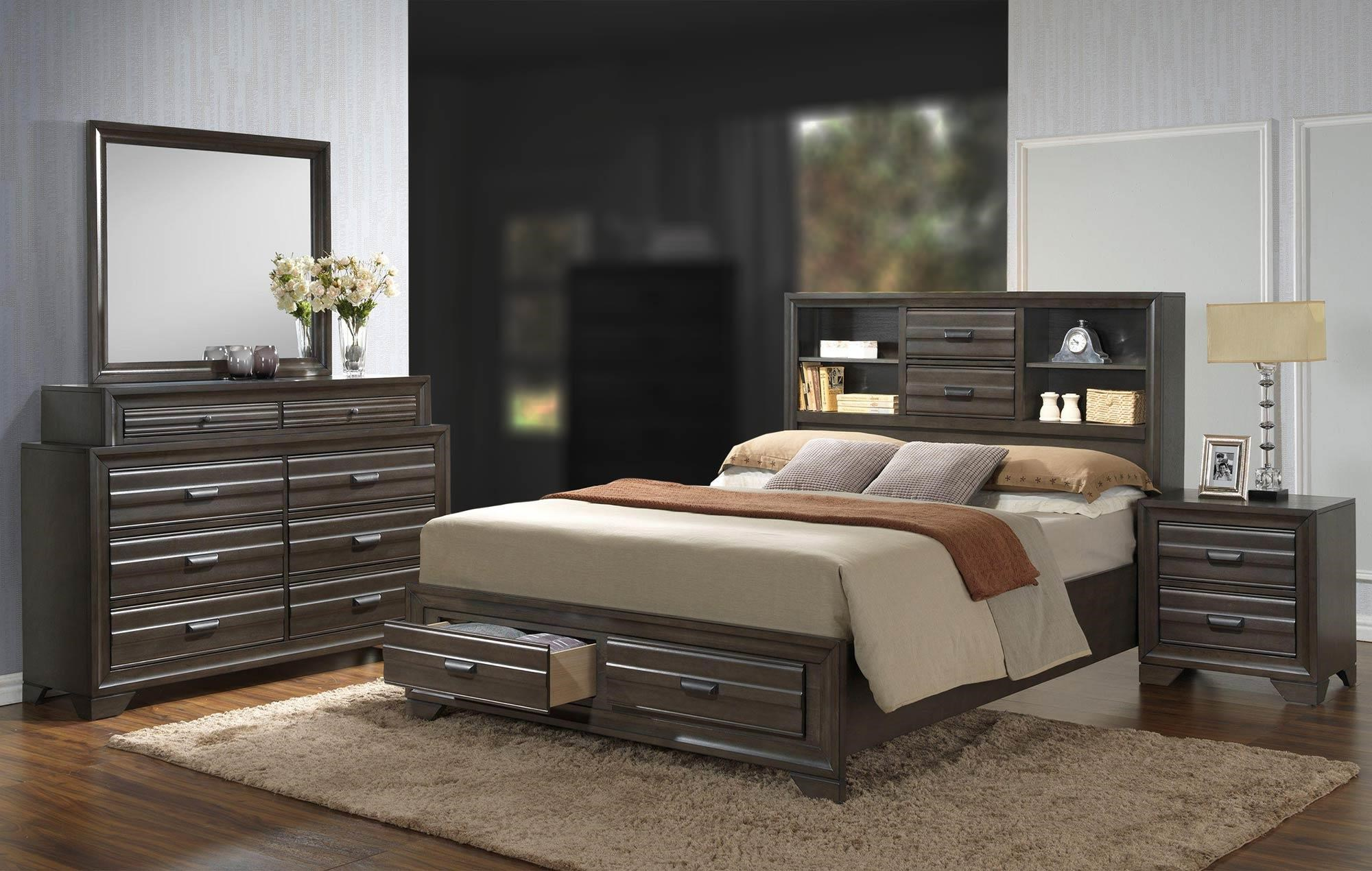 Lifestyle Slater 4PC Queen Bedroom Set   Item Number  5236A 4PC QSBR. Slater 4PC Queen Storage Bedroom Set   Rotmans   Bedroom Group