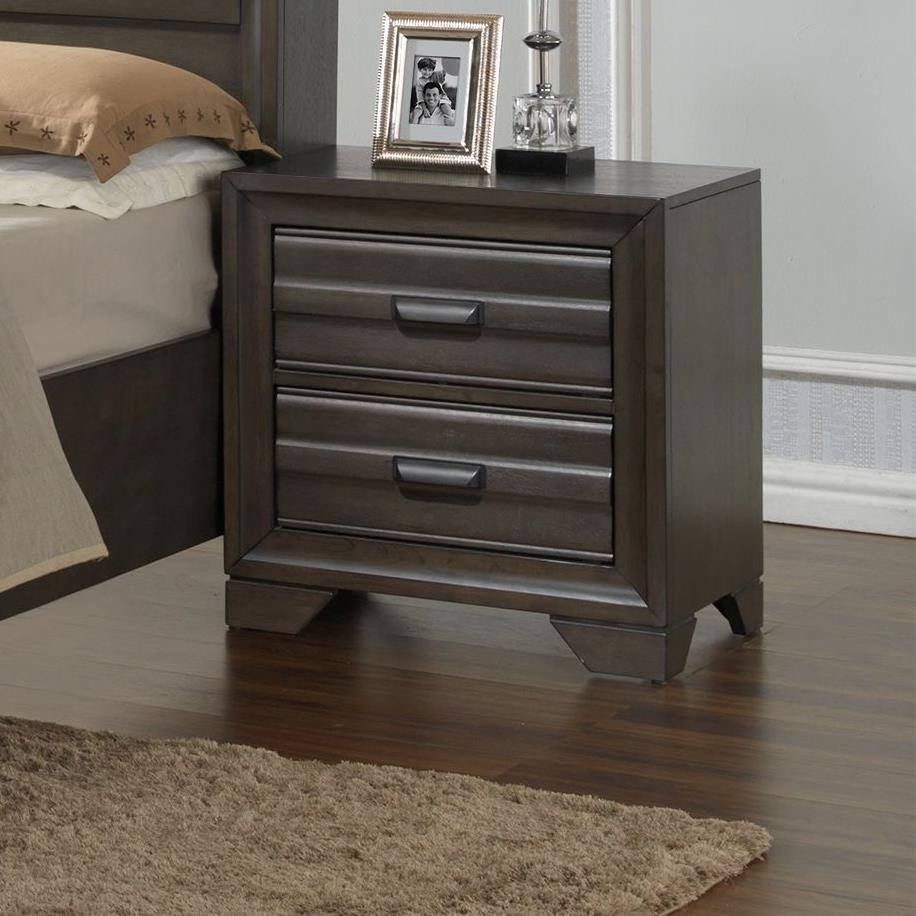 Lifestyle Slater 2 Drawer Nightstand - Item Number: C5236A-020-2DXX