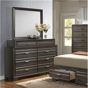 Lifestyle 5236A Dresser and Mirror Set