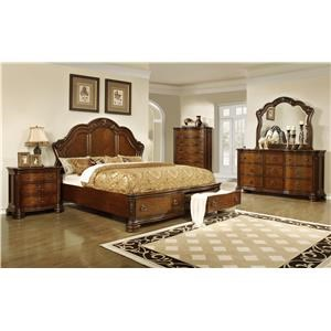 Lifestyle Tobacco Queen 6-Piece Bedroom Group
