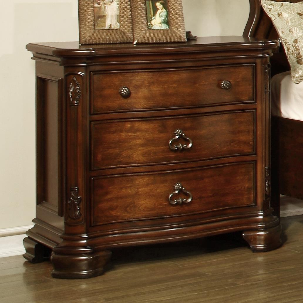 Lifestyle St. Charles Nightstand with 3 Drawers - Item Number: C5390A-025-3DXX