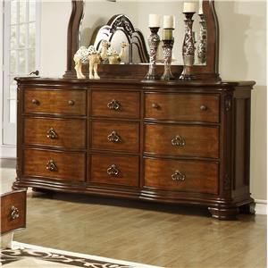 Lifestyle 5390A Dresser with 9 Drawers