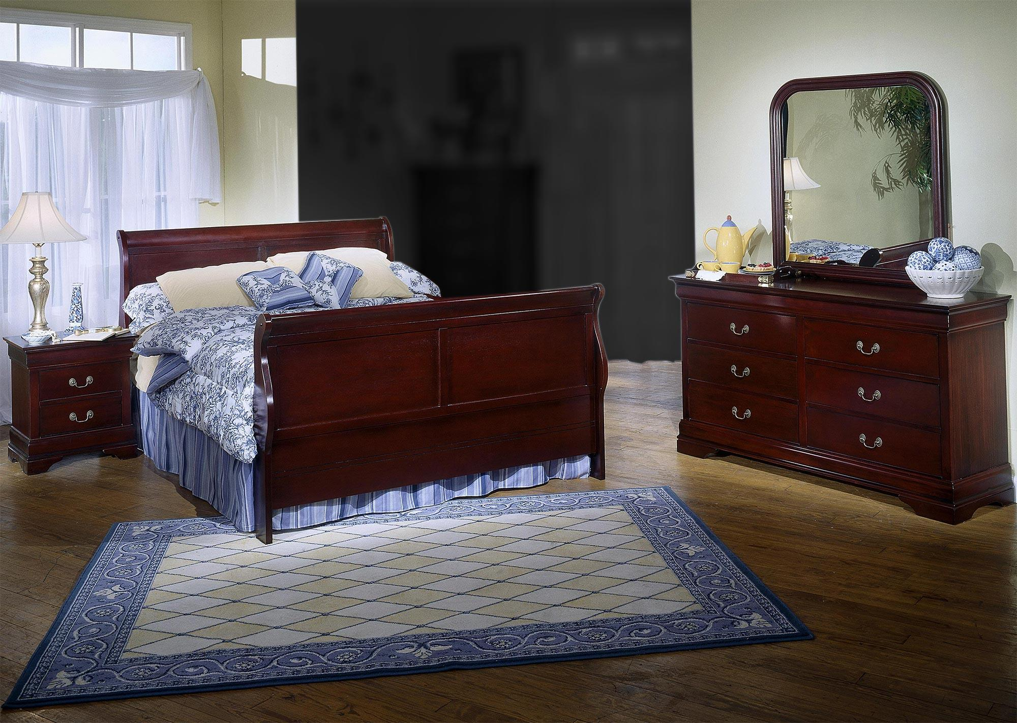 Lifestyle Louis Estates 4 Piece Queen Bedroom Set - Item Number: 4 Piece Queen Bedroom Set