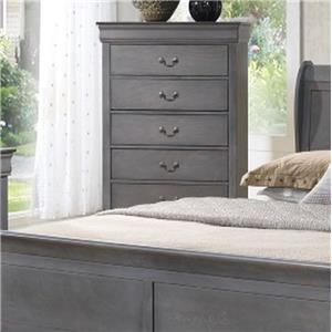 Lifestyle 4934A 5 Drawer Chest