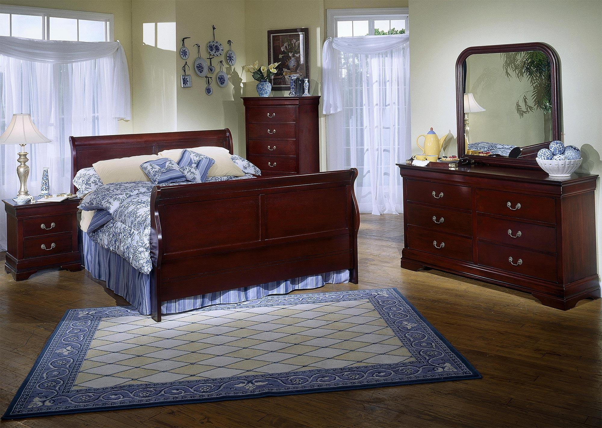 Lifestyle Louis Estates 5-Piece Queen Bedroom Set - Item Number: C5933K-5PC-QBR